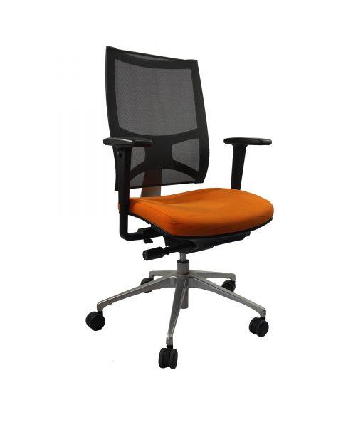 TOFAO01_Fauteuil de direction orange et noir occasion_2