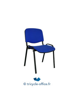 Tricycle Office Mobilier Bureau Occasion Chaise Visiteur Bleu 1