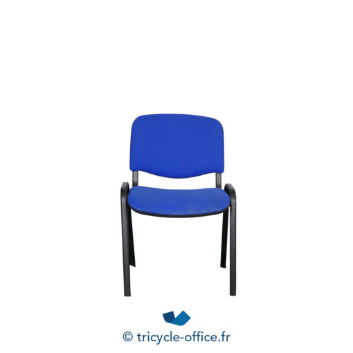 Tricycle Office Mobilier Bureau Occasion Chaise Visiteur Bleu 2