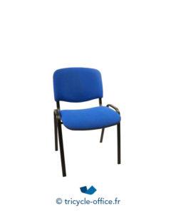 Tricycle Office Mobilier Bureau Occasion Chaise Visiteur Bleu