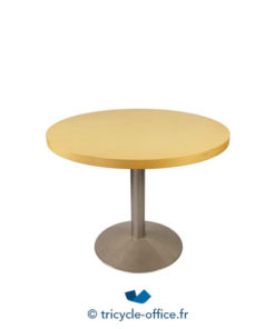 Tricycle Office Mobilier Bureau Occasion Table Bois Diamètre 110cm