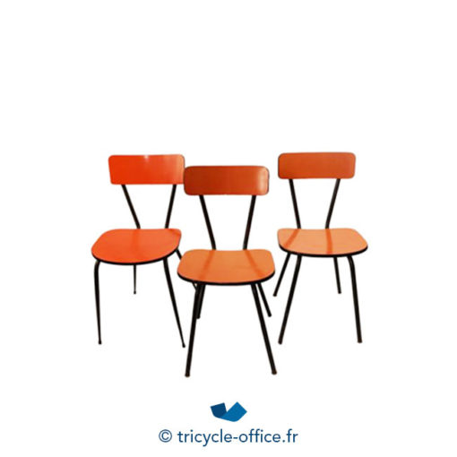 Tricycle Office Mobilier Bureau Occasion Chaise Formica Orange 2
