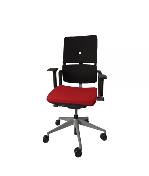 TOFAR03_Fauteuil Steelcase rouge occasion
