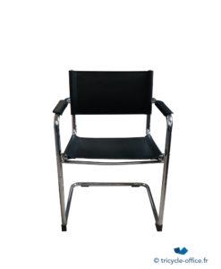 Chaise visiteur noir chromé occasion