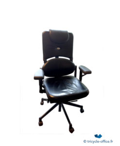 Fauteuil Steelcase Please noir cuir occasion