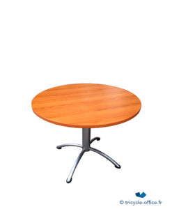 Table ronde Bois Merisier occasion