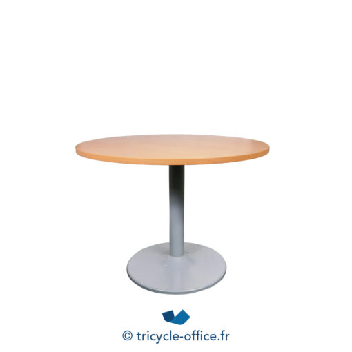 Tricycle Office Mobilier Bureau Occasion Table Ronde Merisier 110 1