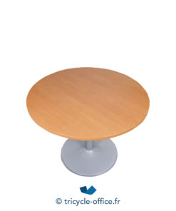 Tricycle Office Mobilier Bureau Occasion Table Ronde Merisier 110 2