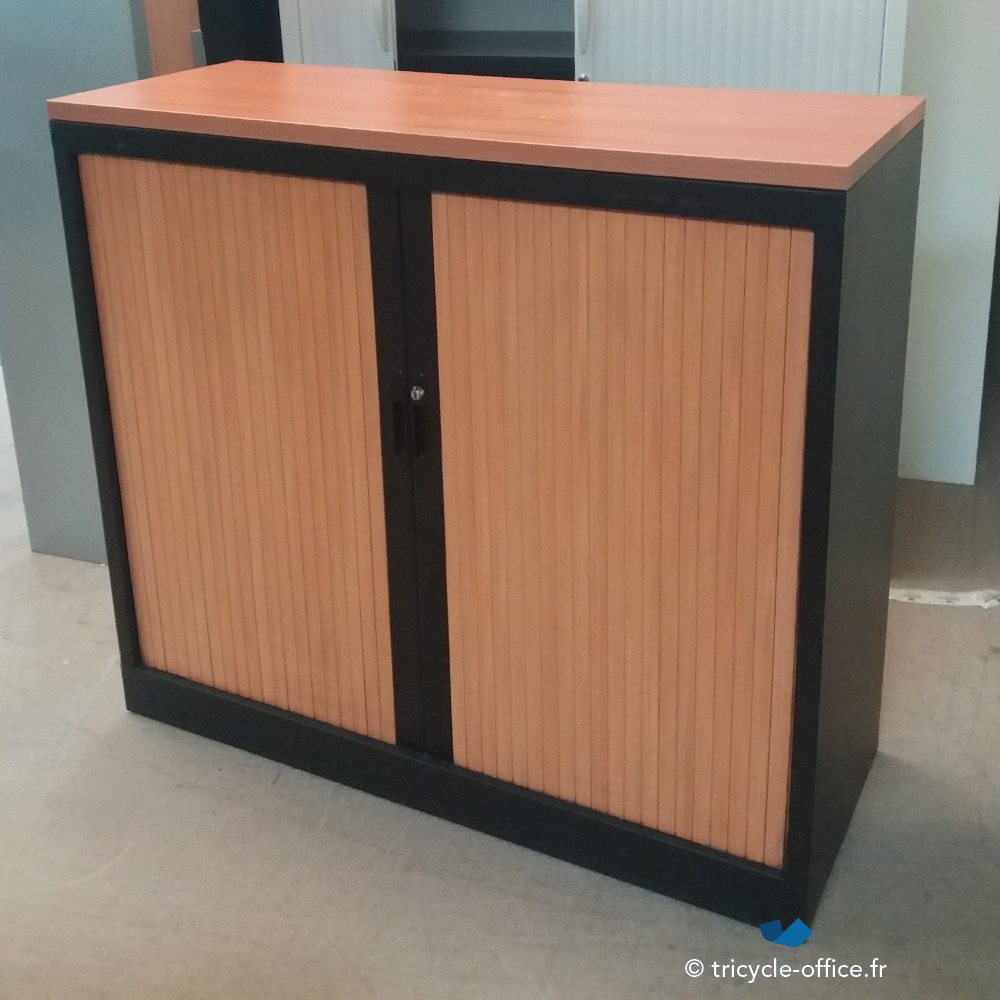 TOABN03 Armoire basse rideau bois_Tricycle Office-Occasion ...