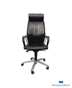 TOFAN03 Fauteuil en Cuir Noir_Tricycle Office