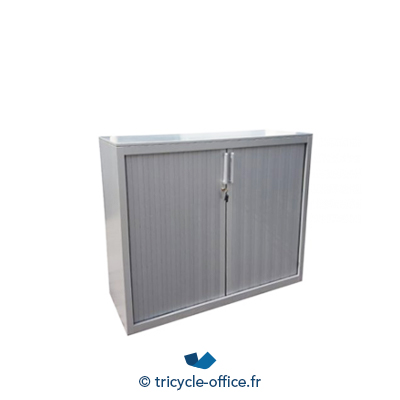 Tricycle Office Mobilier Bureau Occasion Armoire Basse Steelcase Gris Alu 3