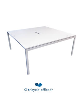 TOTAW10_Table réunion Steelcase blanche_Tricycle Office_Occasion