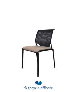 Tricycle Office Mobilier Bureau Occasion Chaise Visiteur Empilable Mediaslim Vitra beige (3)