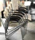 Tricycle Office Mobilier Bureau Occasion Chaise Empilable En Cuir Blanc (1)