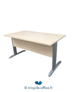Tricycle Office Mobilier Bureau Occasion Bureau En Bois Clair 140 X 80 Cm