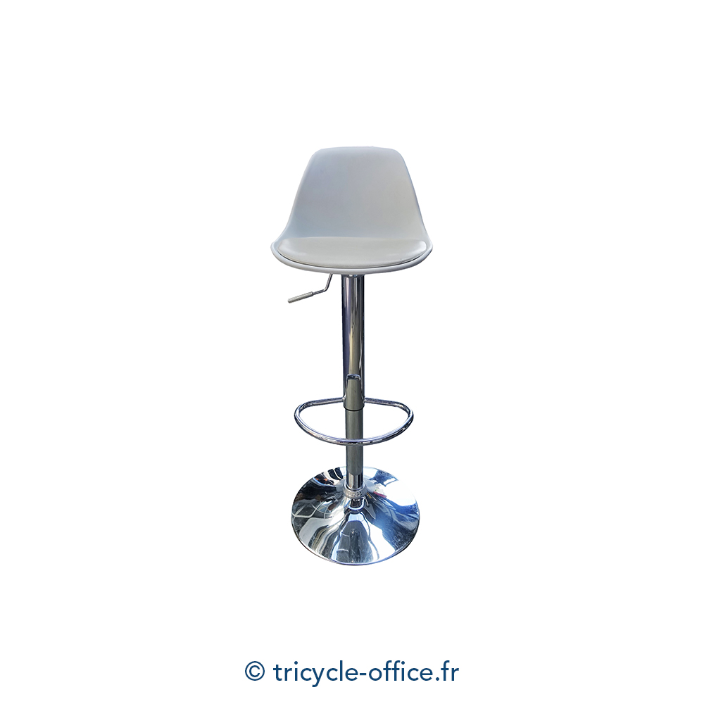 tabouret haut r glable blanc occasion tricycle office. Black Bedroom Furniture Sets. Home Design Ideas