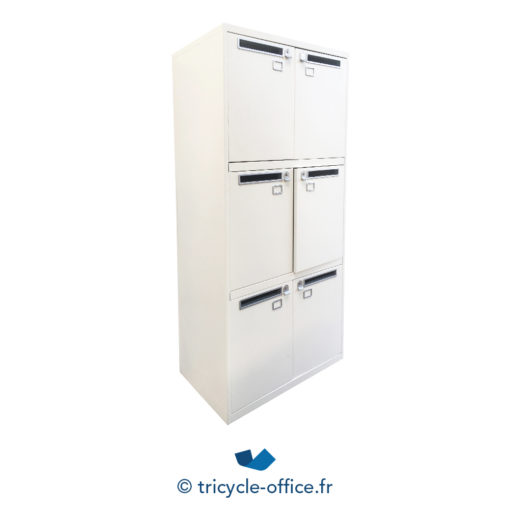 Tricycle Office Mobilier Bureau Occasion Casier Blanc 6 Cases 1