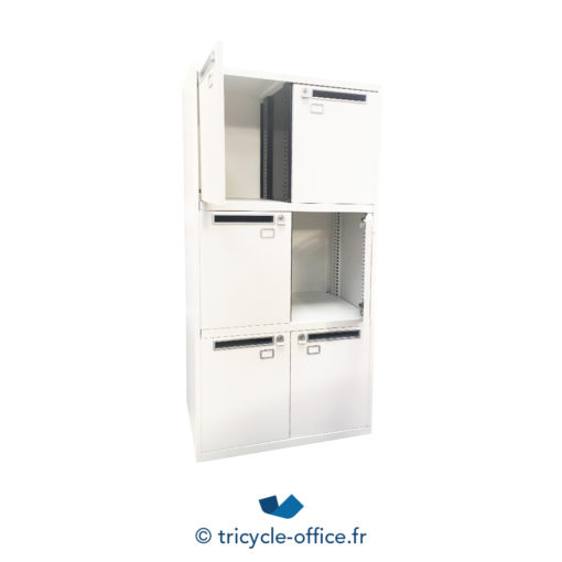 Tricycle Office Mobilier Bureau Occasion Casier Blanc 6 Cases 2