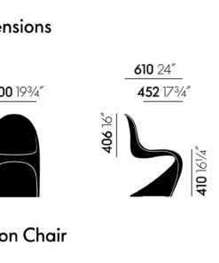 Tricycle Office Mobilier Bureau Occasion Chaise Panton Vitra Basic Dark 4