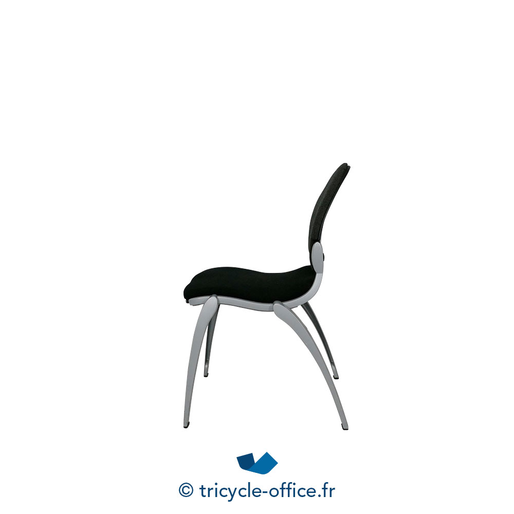 Tricycle Office Mobilier Bureau Occasion Chaise Visiteur Noir 2