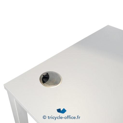 Tricycle Office Mobilier Bureau Occasion Bureau Blanc Avec Passe Cable 3