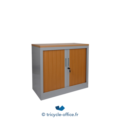 Tricycle Office Mobilier Bureau Occasion Amoire à Fax Grise Rideaux Bois 2