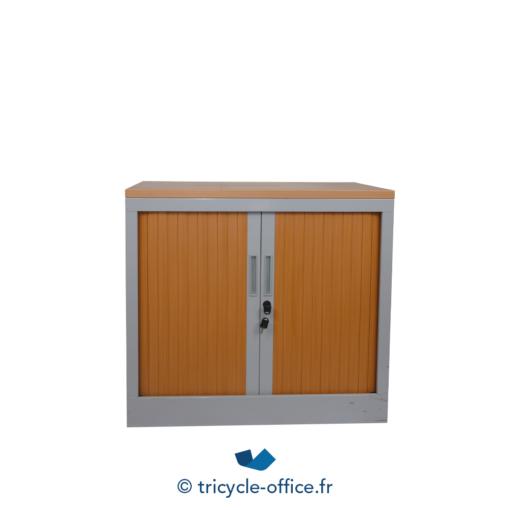 Tricycle Office Mobilier Bureau Occasion Amoire à Fax Grise Rideaux Bois 3