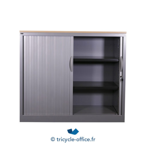 Tricycle Office Mobilier Bureau Occasion Armoire Basse Gris Top Bois Occasion 3