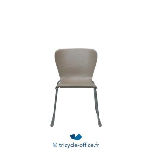 Tricycle Office Mobilier Bureau Occasion Chaise Coque Transparente Chaise Visiteur STEELCASE Plastique (3)
