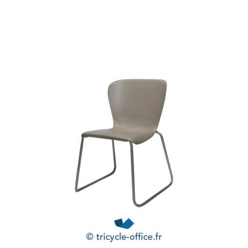 Tricycle Office Mobilier Bureau Occasion Chaise Coque Transparente Chaise Visiteur STEELCASE Plastique (4)