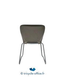 Tricycle Office Mobilier Bureau Occasion Chaise Coque Transparente Chaise Visiteur STEELCASE Plastique (5)