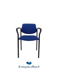 Tricycle Office Mobilier Bureau Occasion Chaise Empilable Avec Accoudoirs Bleu 1