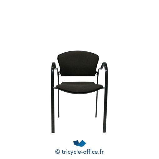 Tricycle Office Mobilier Bureau Occasion Chaise Empilable Avec Accoudoirs Marron 2