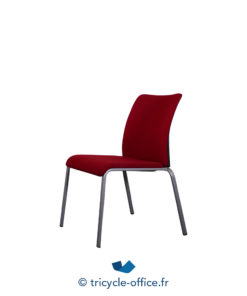 Tricycle Office Mobilier Bureau Occasion Chaise Visiteur Rouge Steelcase 1