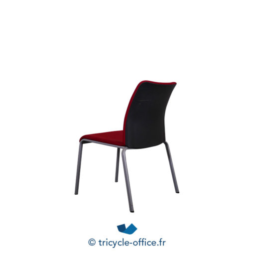 Tricycle Office Mobilier Bureau Occasion Chaise Visiteur Rouge Steelcase 2