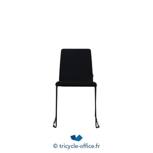 Tricycle Office Mobilier Bureau Occasion Chaise Visiteur Tissu Noir 1