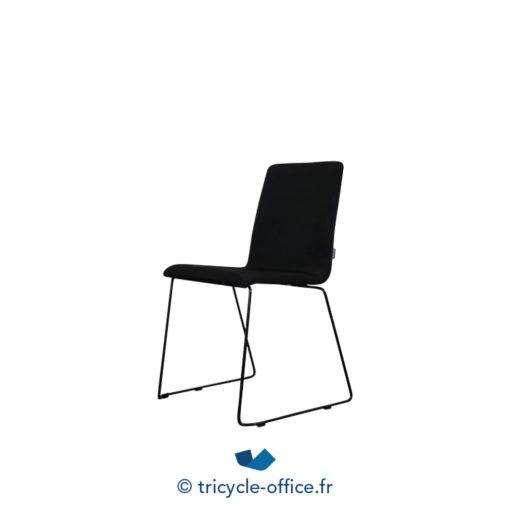 Tricycle Office Mobilier Bureau Occasion Chaise Visiteur Tissu Noir 2