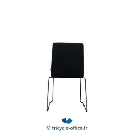 Tricycle Office Mobilier Bureau Occasion Chaise Visiteur Tissu Noir 3