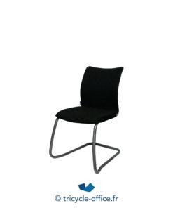 Tricycle Office Mobilier Bureau Occasionchaises Luge Tissu Noir 1