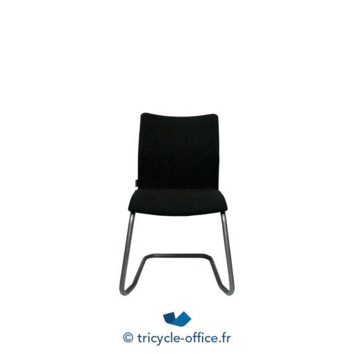 Tricycle Office Mobilier Bureau Occasionchaises Luge Tissu Noir 2