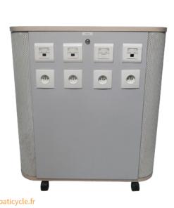 ricycle Office Reemploi Materiaux De Construction Occasion Batiment Caisson Multiprise Roulettes (3)