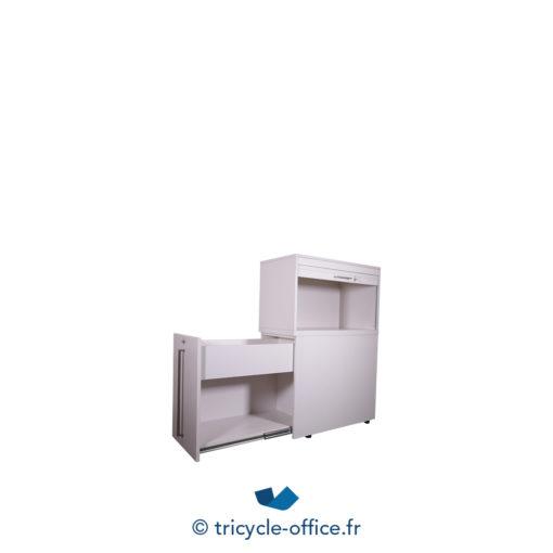 Tricycle Office Mobilier Bureau Occasion Caisson Haut Blanc (3)