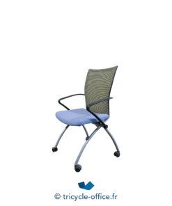Tricycle Office Mobilier Bureau Occasion Chaise De Réunion Bleu (2)