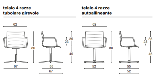 Tricycle Office Mobilier Bureau Occasion Chaise Pivotante Diemme Miss (4)