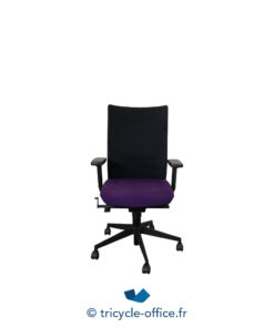 Tricycle Office Mobilier Bureau Occasion Fauteuil De Bureau Eurosit Assise Violette Dossier Noir (3)