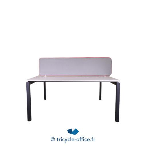 Tricycle Office Mobilier Bureau Occasion Bench De 2 Separateur Gris Steelcase (1)