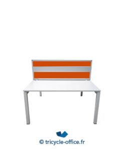 Tricycle Office Mobilier Bureau Occasion Bench De 2 Separateur Orange Steelcase