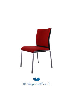 Tricycle Office Mobilier Bureau Occasion Chaise Steelcase Rouge (1)