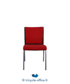 Tricycle Office Mobilier Bureau Occasion Chaise Steelcase Rouge (4)