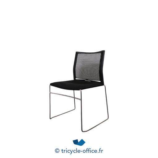 Tricycle Office Mobilier Bureau Occasion Chaise Visiteur Noir Traineaux (1)